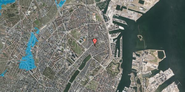 Oversvømmelsesrisiko fra vandløb på Faksegade 16, st. , 2100 København Ø