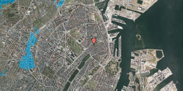 Oversvømmelsesrisiko fra vandløb på Faksegade 16, 3. th, 2100 København Ø