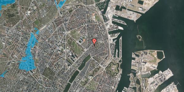 Oversvømmelsesrisiko fra vandløb på Faksegade 18, st. th, 2100 København Ø
