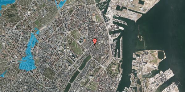 Oversvømmelsesrisiko fra vandløb på Faksegade 18, 2. tv, 2100 København Ø