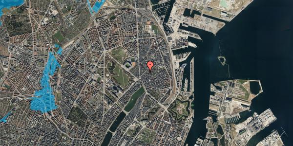 Oversvømmelsesrisiko fra vandløb på Faksegade 18, 4. th, 2100 København Ø