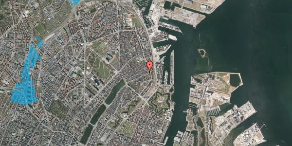 Oversvømmelsesrisiko fra vandløb på Fiskedamsgade 2, 5. tv, 2100 København Ø