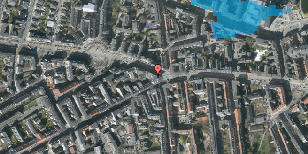Oversvømmelsesrisiko fra vandløb på Frederiksberg Allé 1, 1621 København V
