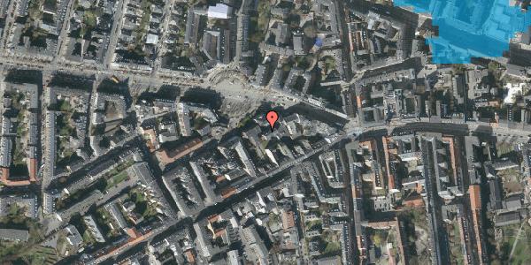Oversvømmelsesrisiko fra vandløb på Frederiksberg Allé 11B, 3. tv, 1621 København V