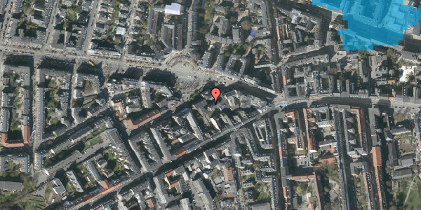 Oversvømmelsesrisiko fra vandløb på Frederiksberg Allé 11B, 4. tv, 1621 København V