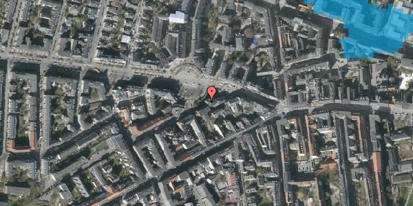 Oversvømmelsesrisiko fra vandløb på Frederiksberg Allé 11, 2. tv, 1621 København V