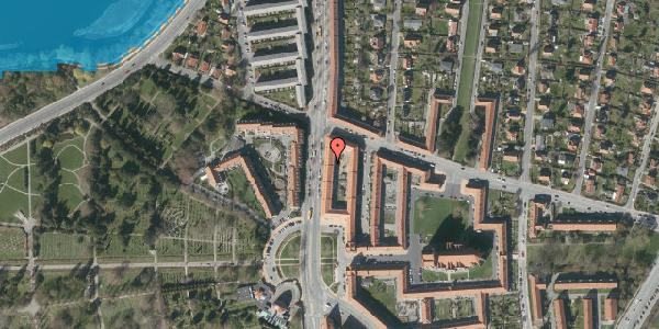 Oversvømmelsesrisiko fra vandløb på Frederiksborgvej 154B, 1. th, 2400 København NV