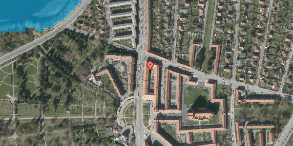 Oversvømmelsesrisiko fra vandløb på Frederiksborgvej 154B, 2. tv, 2400 København NV