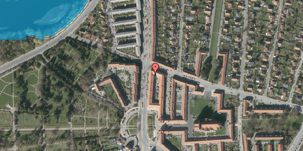 Oversvømmelsesrisiko fra vandløb på Frederiksborgvej 156B, 1. th, 2400 København NV