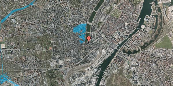 Oversvømmelsesrisiko fra vandløb på Gammel Kongevej 21A, 4. tv, 1610 København V