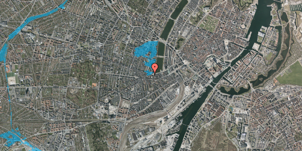Oversvømmelsesrisiko fra vandløb på Gammel Kongevej 33A, st. tv, 1610 København V
