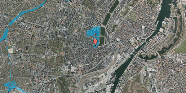 Oversvømmelsesrisiko fra vandløb på Gammel Kongevej 43, 2. tv, 1610 København V