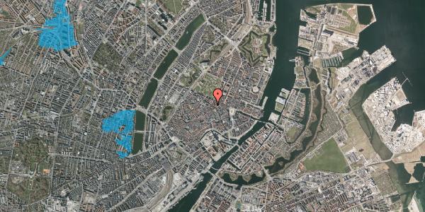 Oversvømmelsesrisiko fra vandløb på Gammel Mønt 33, kl. , 1117 København K