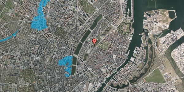 Oversvømmelsesrisiko fra vandløb på Gothersgade 141, 4. 404, 1123 København K
