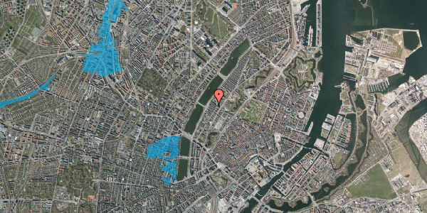 Oversvømmelsesrisiko fra vandløb på Gothersgade 154, kl. th, 1123 København K