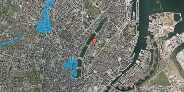 Oversvømmelsesrisiko fra vandløb på Gothersgade 154, 1. th, 1123 København K