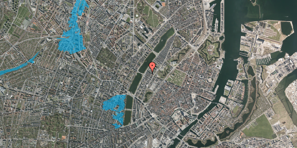 Oversvømmelsesrisiko fra vandløb på Gothersgade 156A, 2. th, 1123 København K