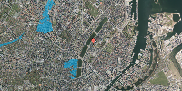 Oversvømmelsesrisiko fra vandløb på Gothersgade 158, 3. th, 1123 København K