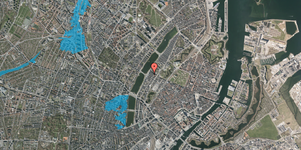 Oversvømmelsesrisiko fra vandløb på Gothersgade 167, 3. th, 1123 København K