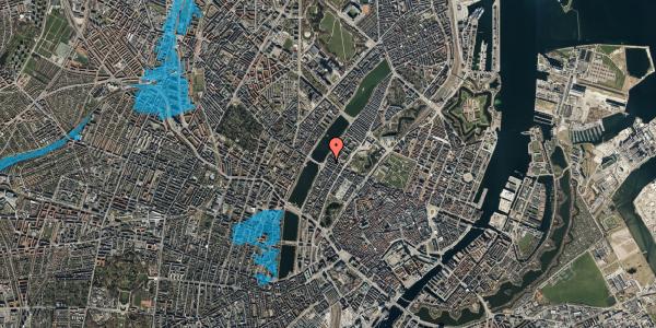 Oversvømmelsesrisiko fra vandløb på Gothersgade 175, 3. tv, 1123 København K