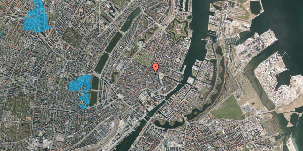 Oversvømmelsesrisiko fra vandløb på Grønnegade 4, kl. , 1107 København K
