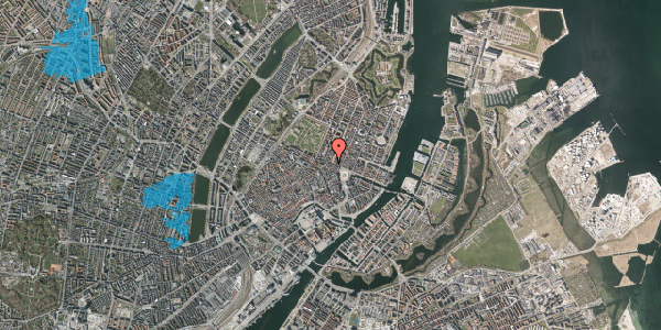 Oversvømmelsesrisiko fra vandløb på Grønnegade 43, st. 1, 1107 København K