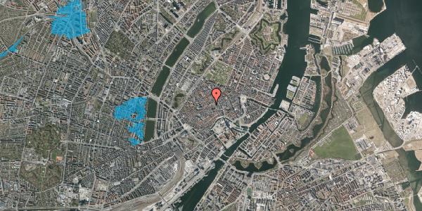 Oversvømmelsesrisiko fra vandløb på Gråbrødretorv 9, 2. th, 1154 København K