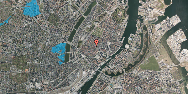 Oversvømmelsesrisiko fra vandløb på Gråbrødretorv 13, st. 1, 1154 København K