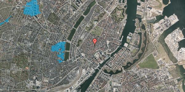 Oversvømmelsesrisiko fra vandløb på Gråbrødretorv 21, kl. 1, 1154 København K