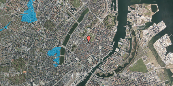 Oversvømmelsesrisiko fra vandløb på Hauser Plads 16B, 1. th, 1127 København K
