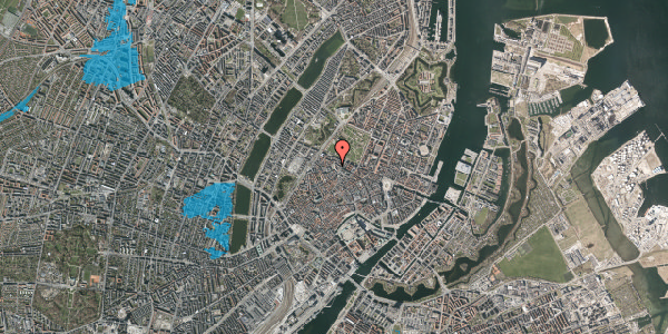 Oversvømmelsesrisiko fra vandløb på Hauser Plads 16D, kl. , 1127 København K