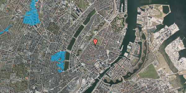 Oversvømmelsesrisiko fra vandløb på Hauser Plads 18, 3. , 1127 København K