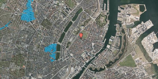 Oversvømmelsesrisiko fra vandløb på Hauser Plads 32, 3. th, 1127 København K