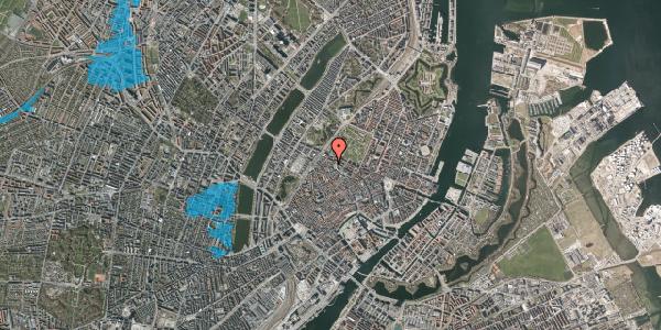 Oversvømmelsesrisiko fra vandløb på Hauser Plads 32, 3. tv, 1127 København K