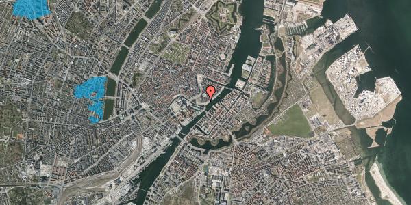 Oversvømmelsesrisiko fra vandløb på Havnegade 21, st. , 1058 København K