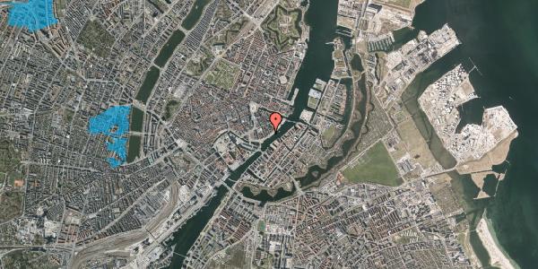 Oversvømmelsesrisiko fra vandløb på Havnegade 33, 1. th, 1058 København K