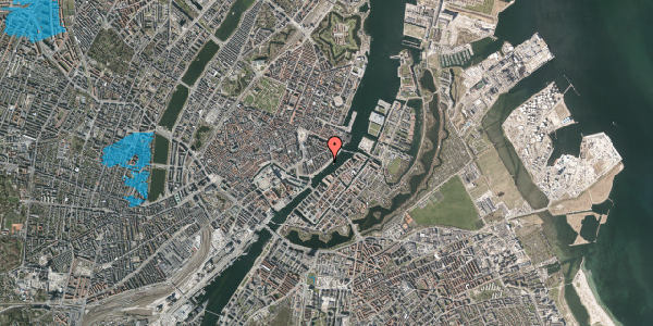 Oversvømmelsesrisiko fra vandløb på Havnegade 39, kl. , 1058 København K