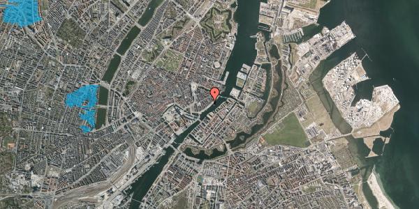 Oversvømmelsesrisiko fra vandløb på Havnegade 39, 1. 1, 1058 København K