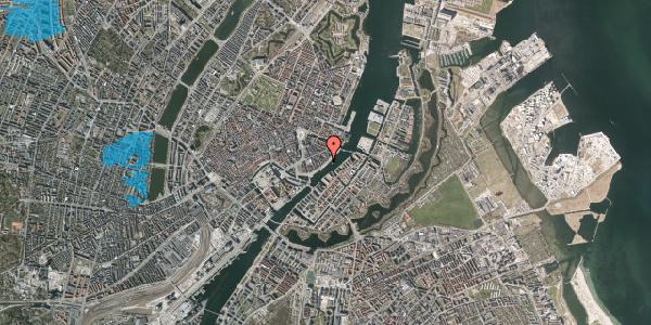 Oversvømmelsesrisiko fra vandløb på Havnegade 39, 2. 1, 1058 København K