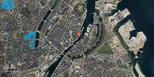 Oversvømmelsesrisiko fra vandløb på Havnegade 41, st. th, 1058 København K