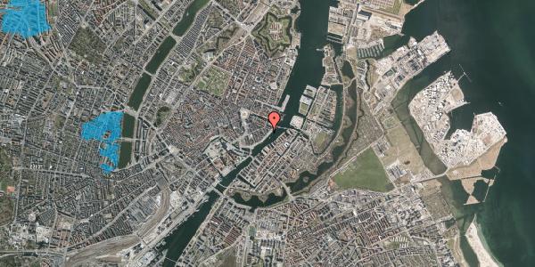 Oversvømmelsesrisiko fra vandløb på Havnegade 43, st. th, 1058 København K