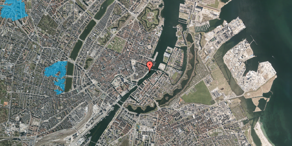 Oversvømmelsesrisiko fra vandløb på Havnegade 43, 1. th, 1058 København K