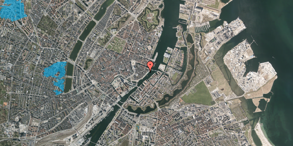 Oversvømmelsesrisiko fra vandløb på Havnegade 45, kl. , 1058 København K