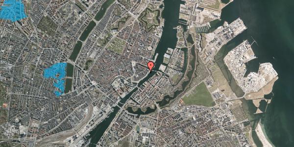Oversvømmelsesrisiko fra vandløb på Havnegade 47, 1. tv, 1058 København K