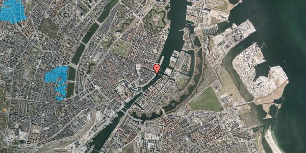 Oversvømmelsesrisiko fra vandløb på Havnegade 49, 1. tv, 1058 København K