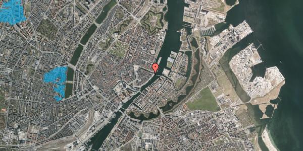 Oversvømmelsesrisiko fra vandløb på Havnegade 51, kl. th, 1058 København K