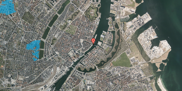 Oversvømmelsesrisiko fra vandløb på Havnegade 51, 1. th, 1058 København K