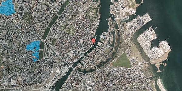 Oversvømmelsesrisiko fra vandløb på Havnegade 53B, 2. tv, 1058 København K