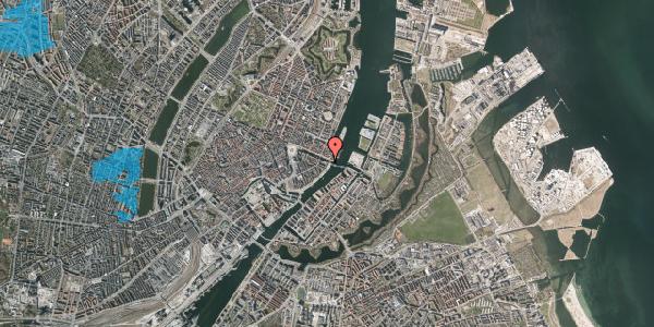 Oversvømmelsesrisiko fra vandløb på Havnegade 55, 1. th, 1058 København K