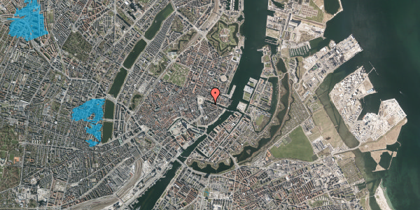 Oversvømmelsesrisiko fra vandløb på Heibergsgade 16, 1. th, 1056 København K